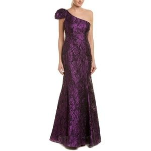 Aidan Mattox Womens Metallic Formal Evening Dress